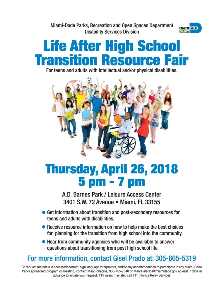 Home Care Miami FL - Life After High School Transition Resource Fair