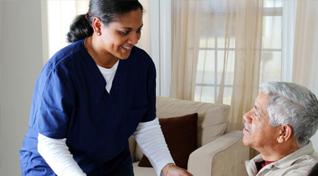 Nurse providing medicaid services to her patient